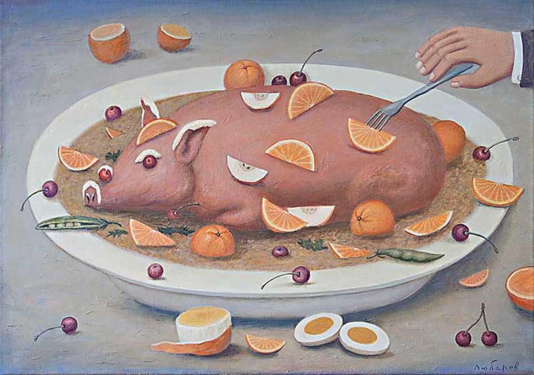 одеяло картинка свинья в апельсинах грянула война