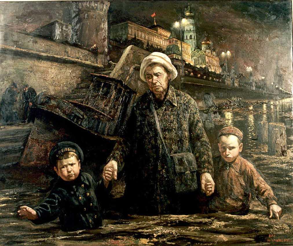Прогулки с бабушкой по Москве-реке