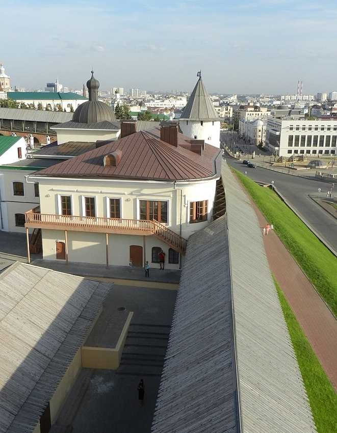 Kazan Kremlin:view from the Transfiguration tower